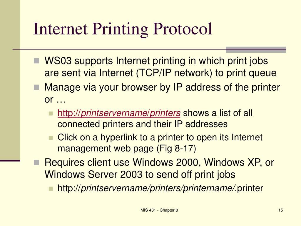 Internet Printing Protocol