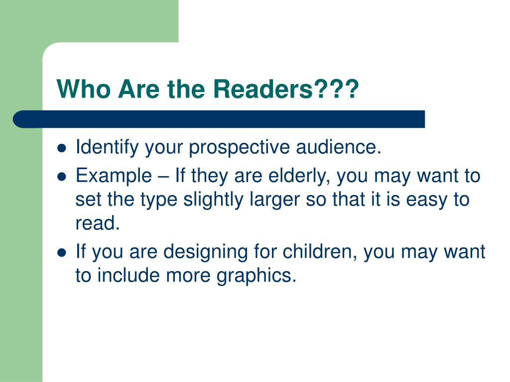 Who Are the Readers???