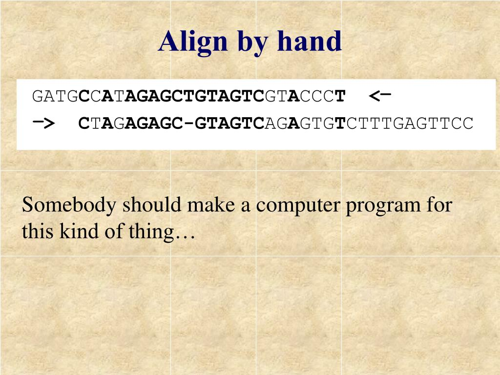 Align by hand