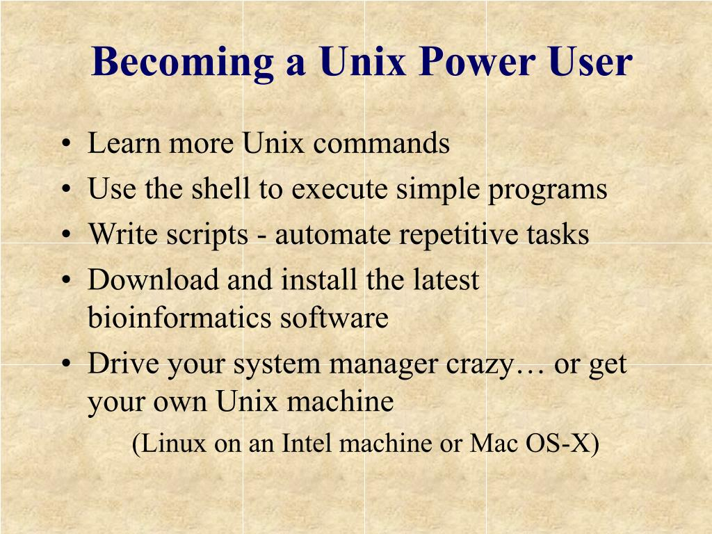 Becoming a Unix Power User