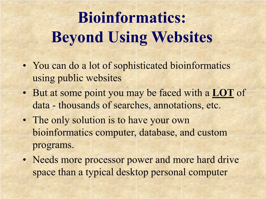 Bioinformatics: