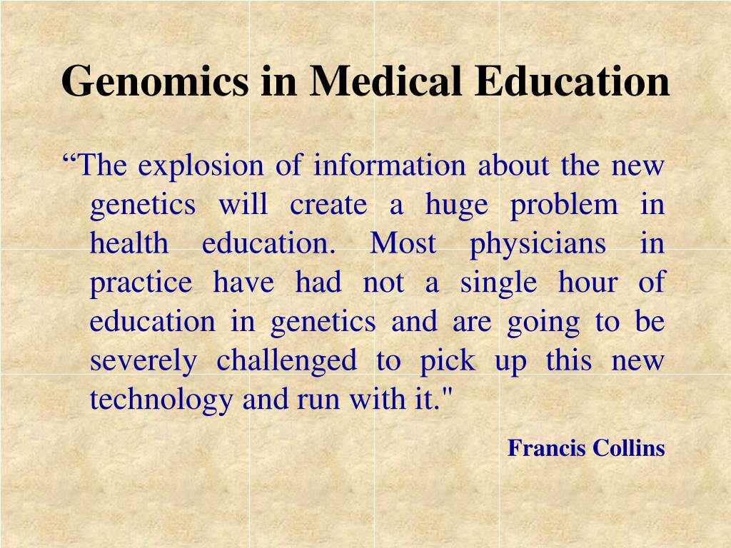 Genomics in Medical Education