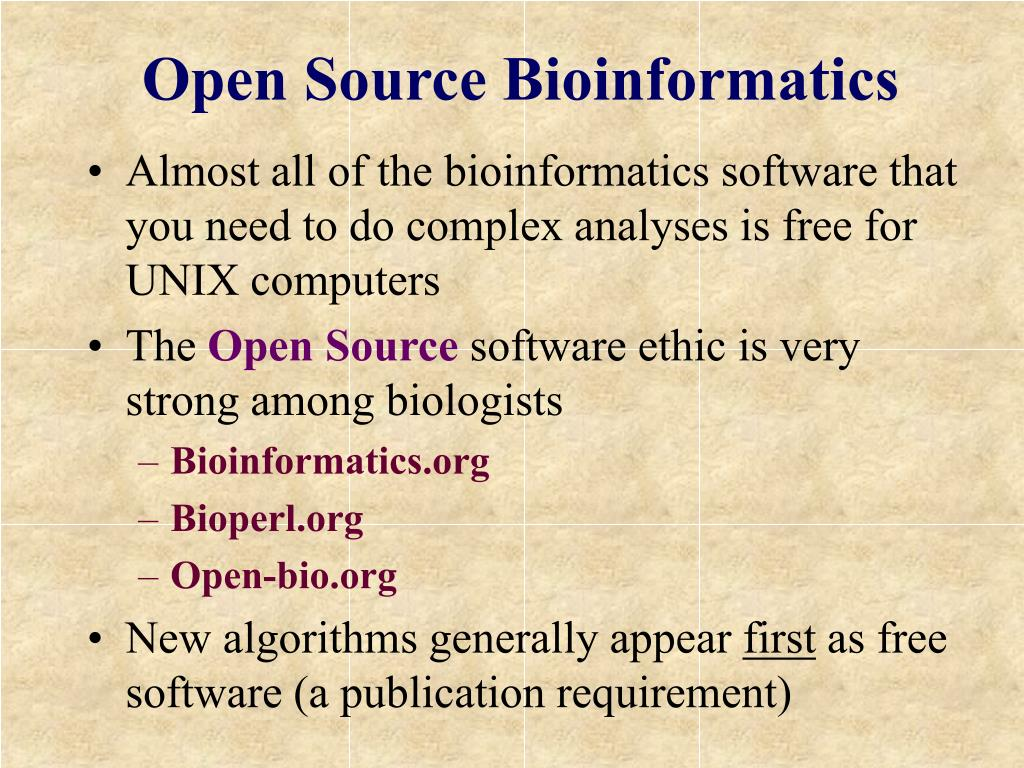 Open Source Bioinformatics