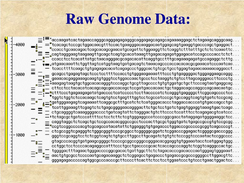 Raw Genome Data: