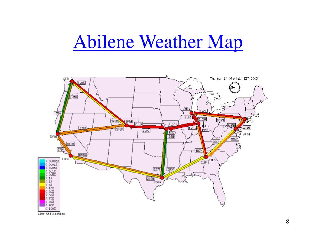 Abilene Weather Map
