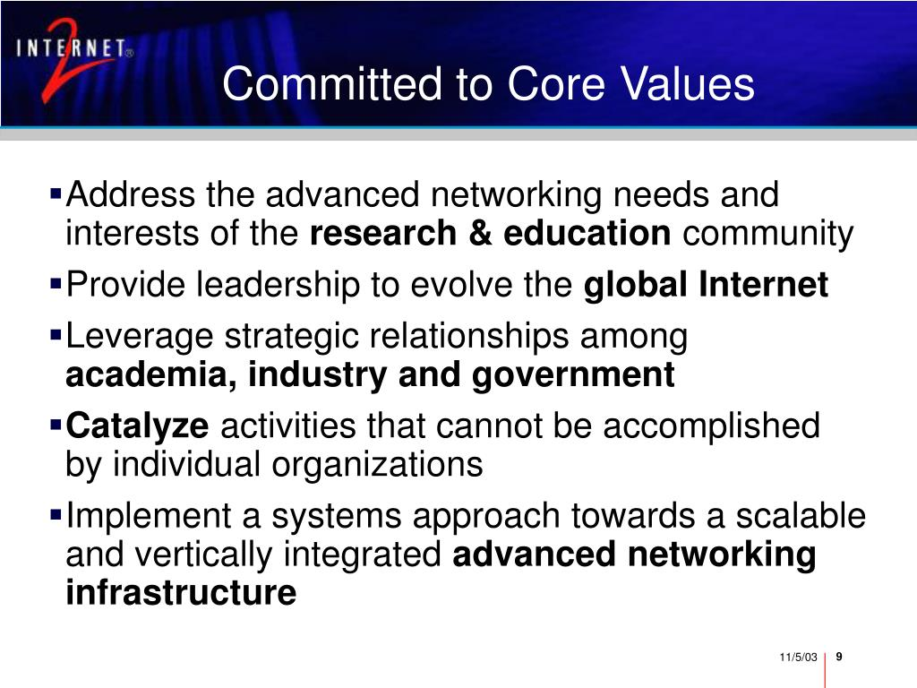 Committed to Core Values