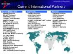 current international partners