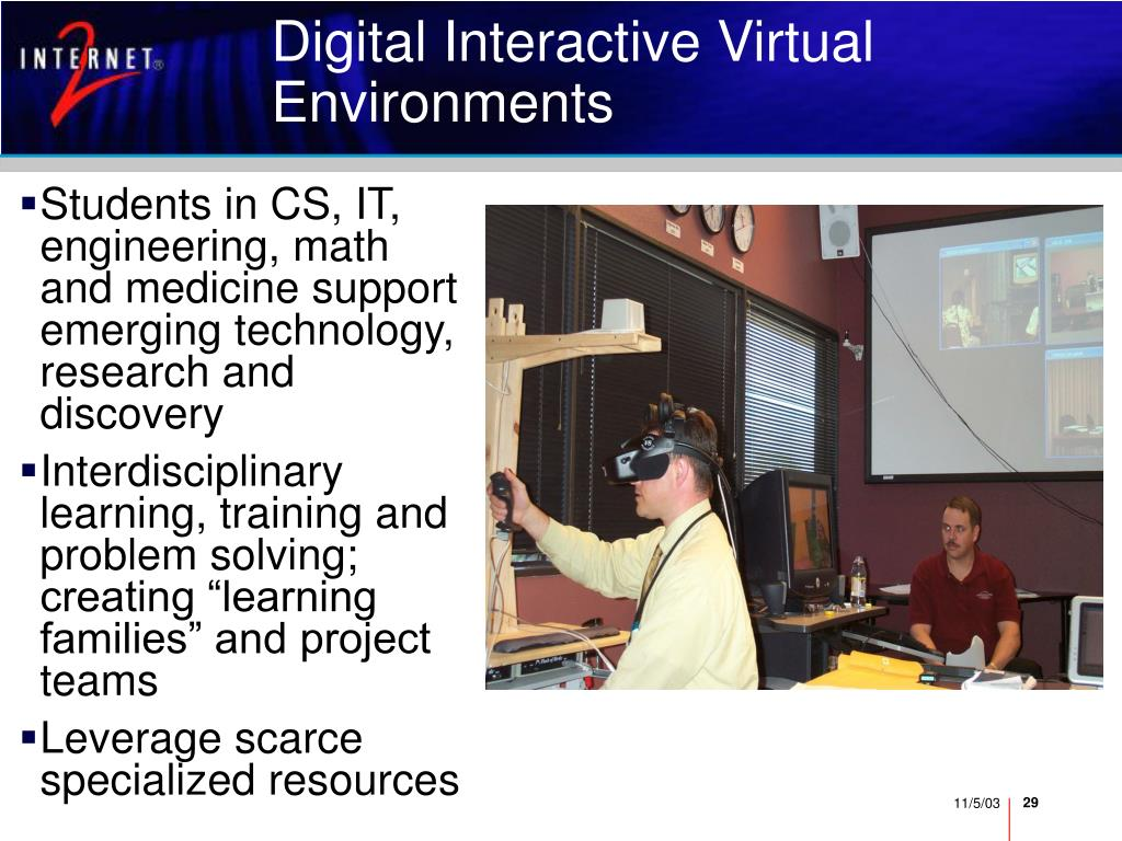 Digital Interactive Virtual Environments