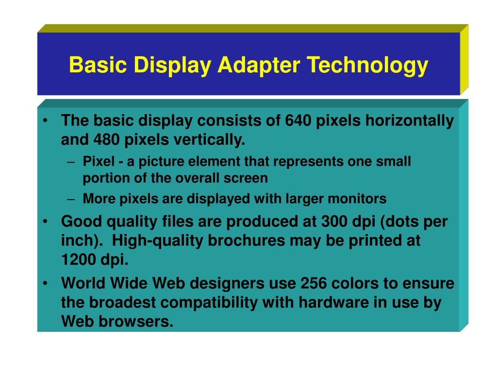 Basic Display Adapter Technology