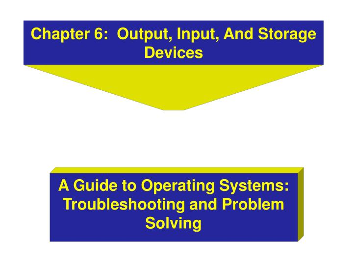 Chapter 6 output input and storage devices