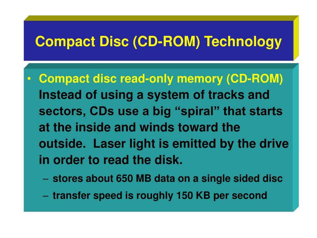 Compact Disc (CD-ROM) Technology