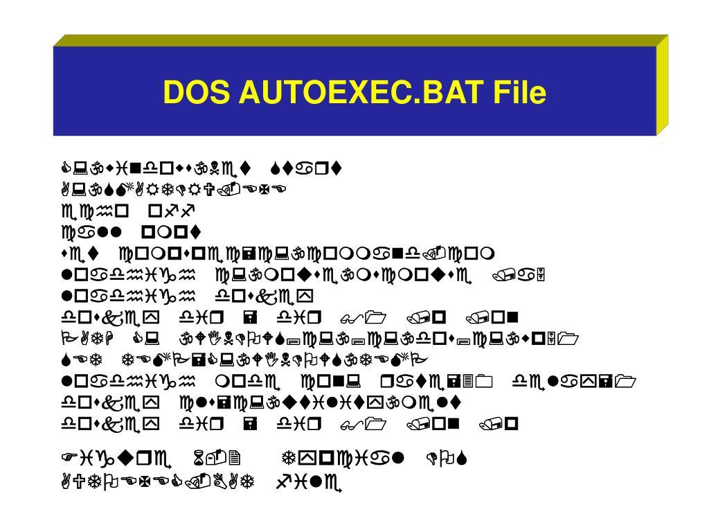 DOS AUTOEXEC.BAT File