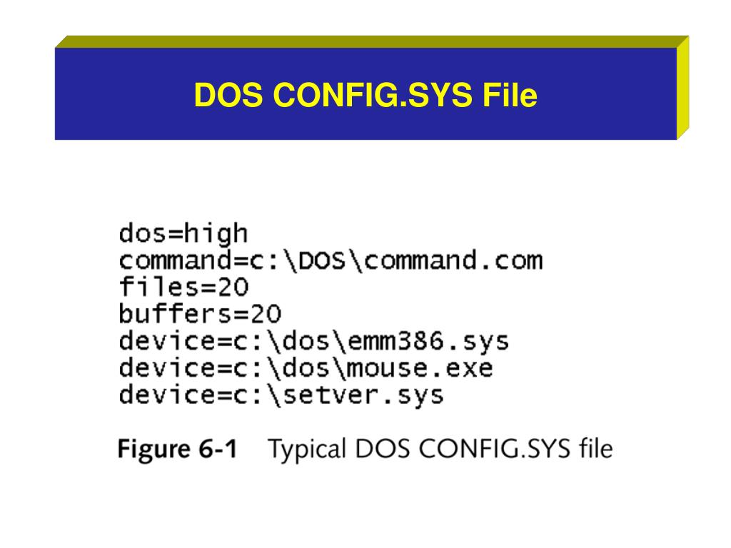 DOS CONFIG.SYS File