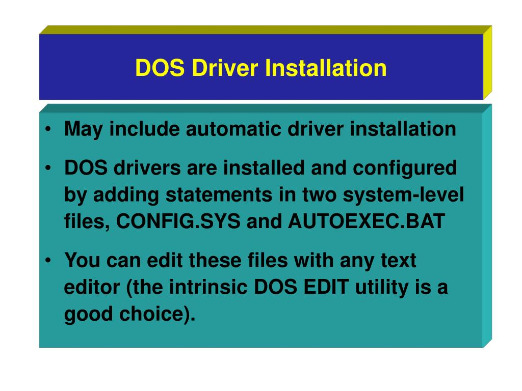DOS Driver Installation