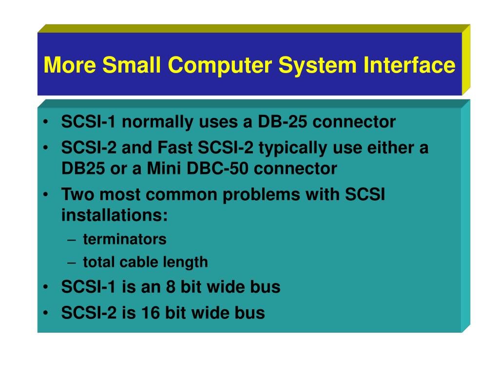 More Small Computer System Interface