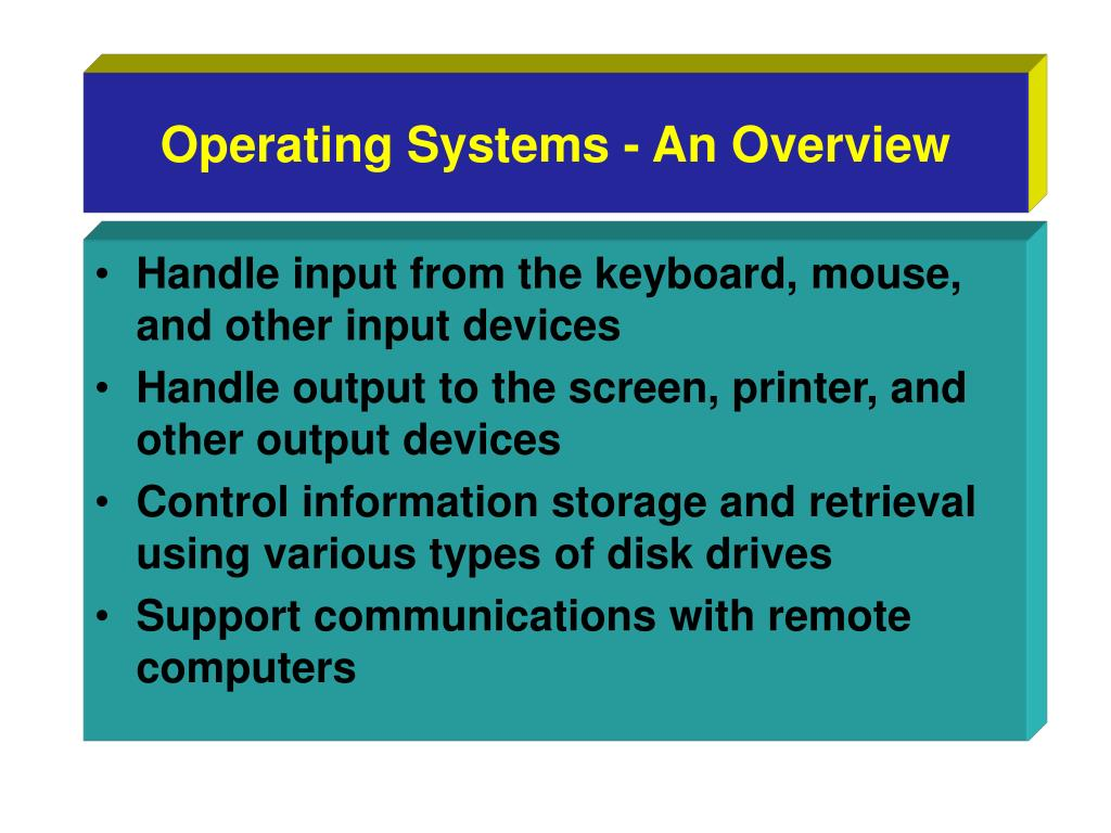 Operating Systems - An Overview
