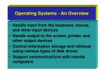 operating systems an overview
