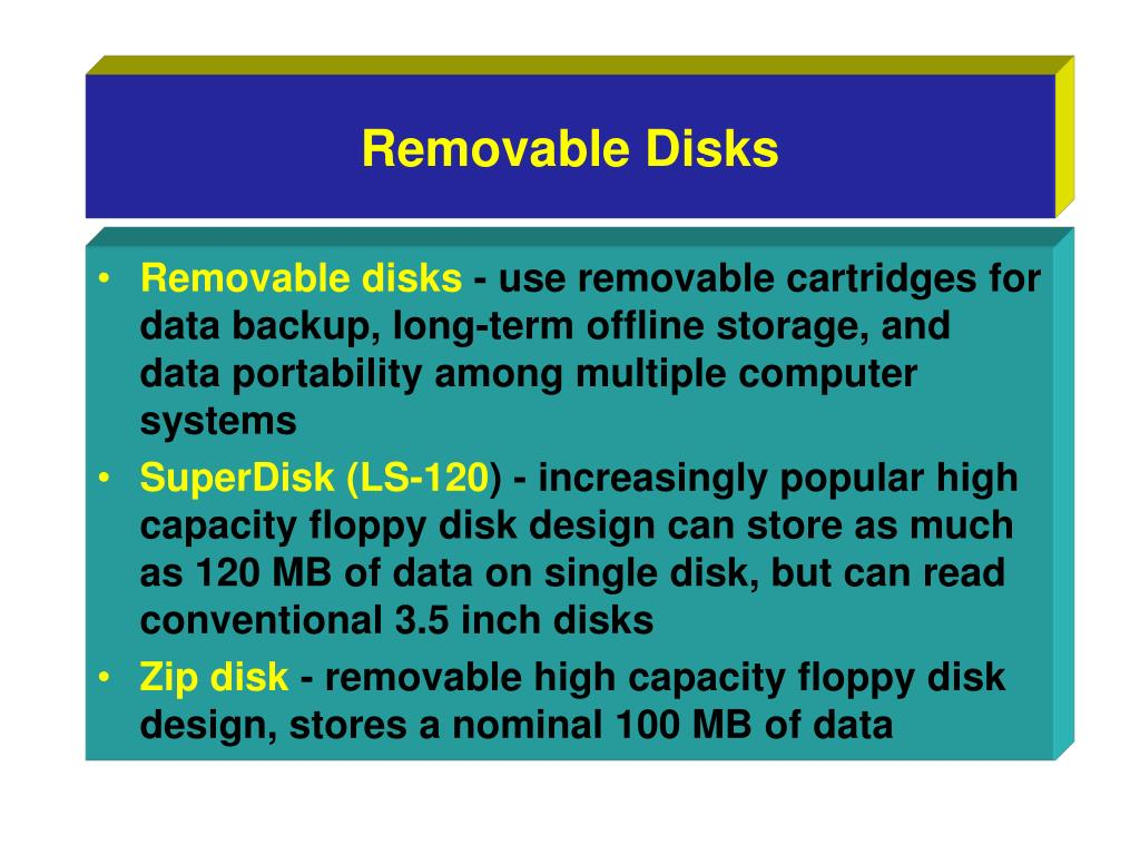 Removable Disks