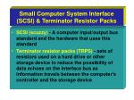 small computer system interface scsi terminator resistor packs