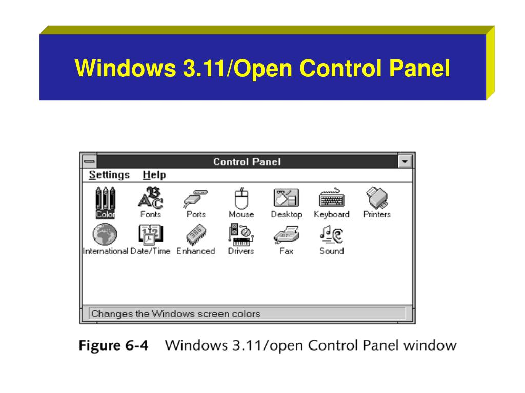 Windows 3.11/Open Control Panel