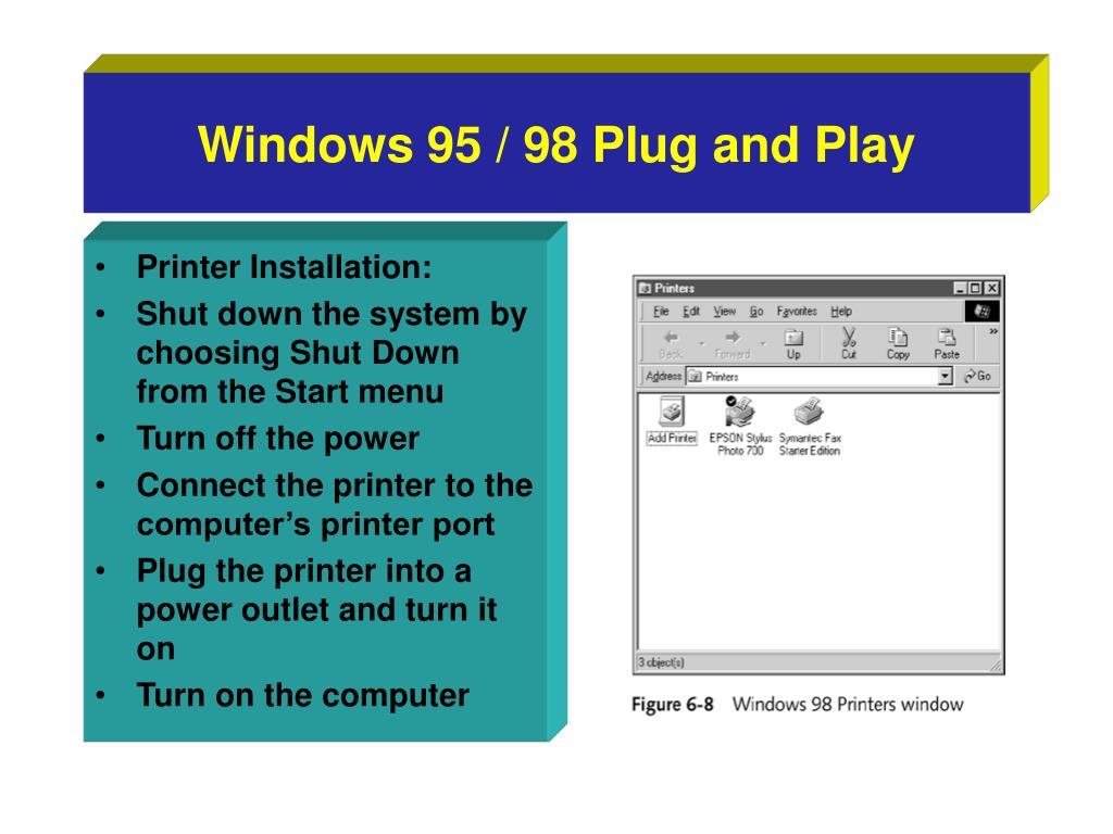 Windows 95 / 98 Plug and Play
