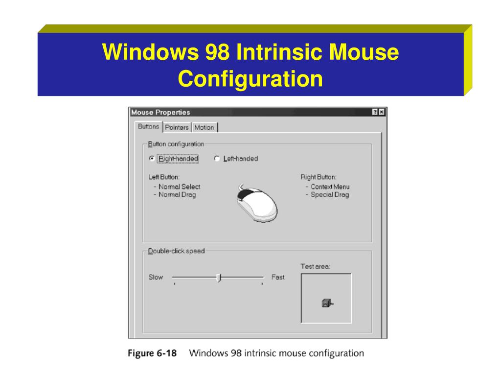 Windows 98 Intrinsic Mouse Configuration