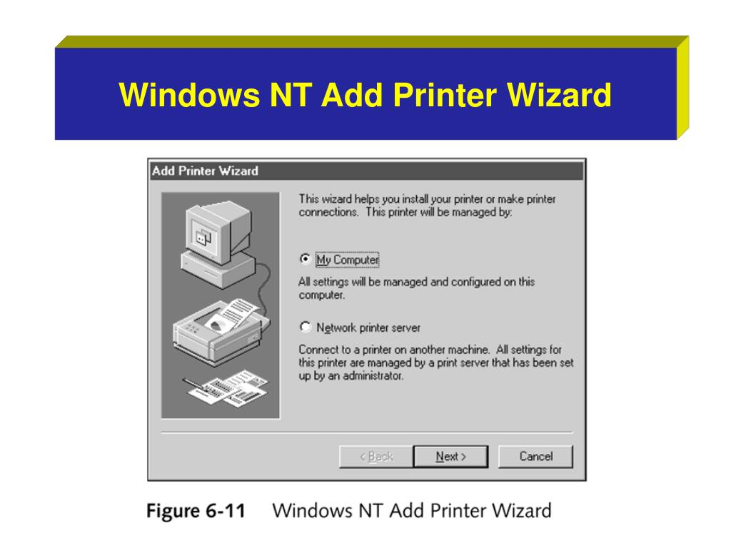 Windows NT Add Printer Wizard
