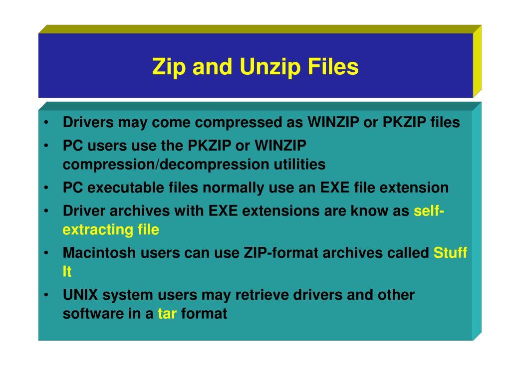 Zip and Unzip Files