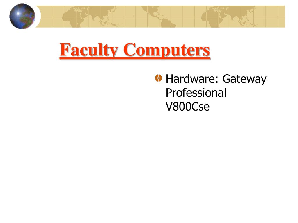 Faculty Computers