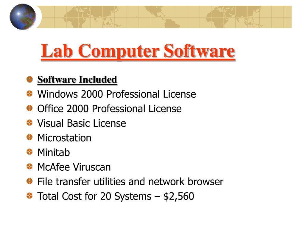 Lab Computer Software