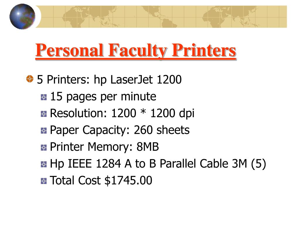 Personal Faculty Printers