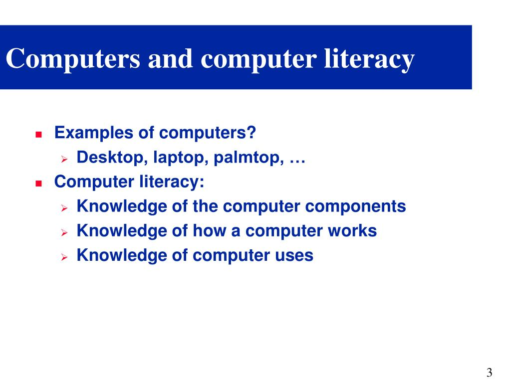 Computers and computer literacy