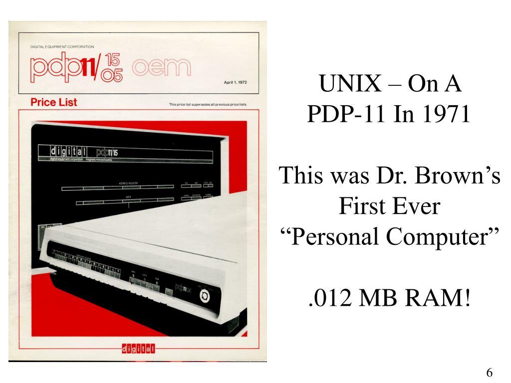 UNIX – On A