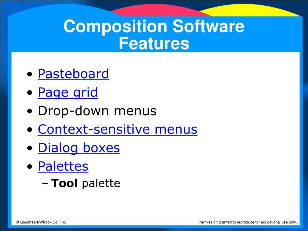 Composition Software Features