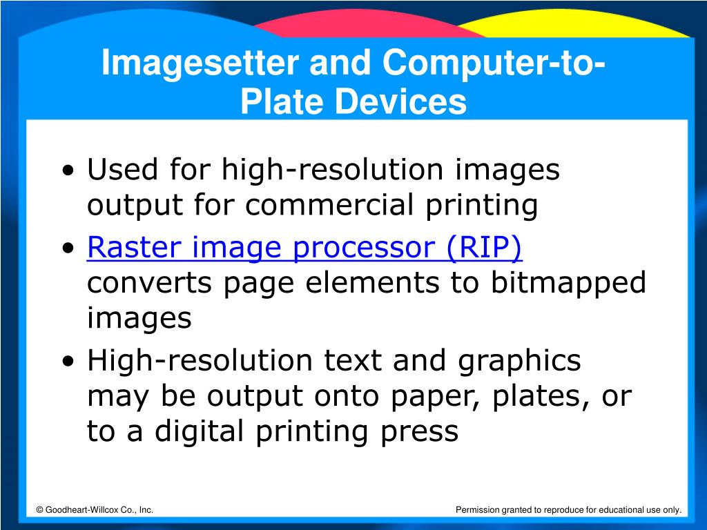 Imagesetter and Computer-to-Plate Devices