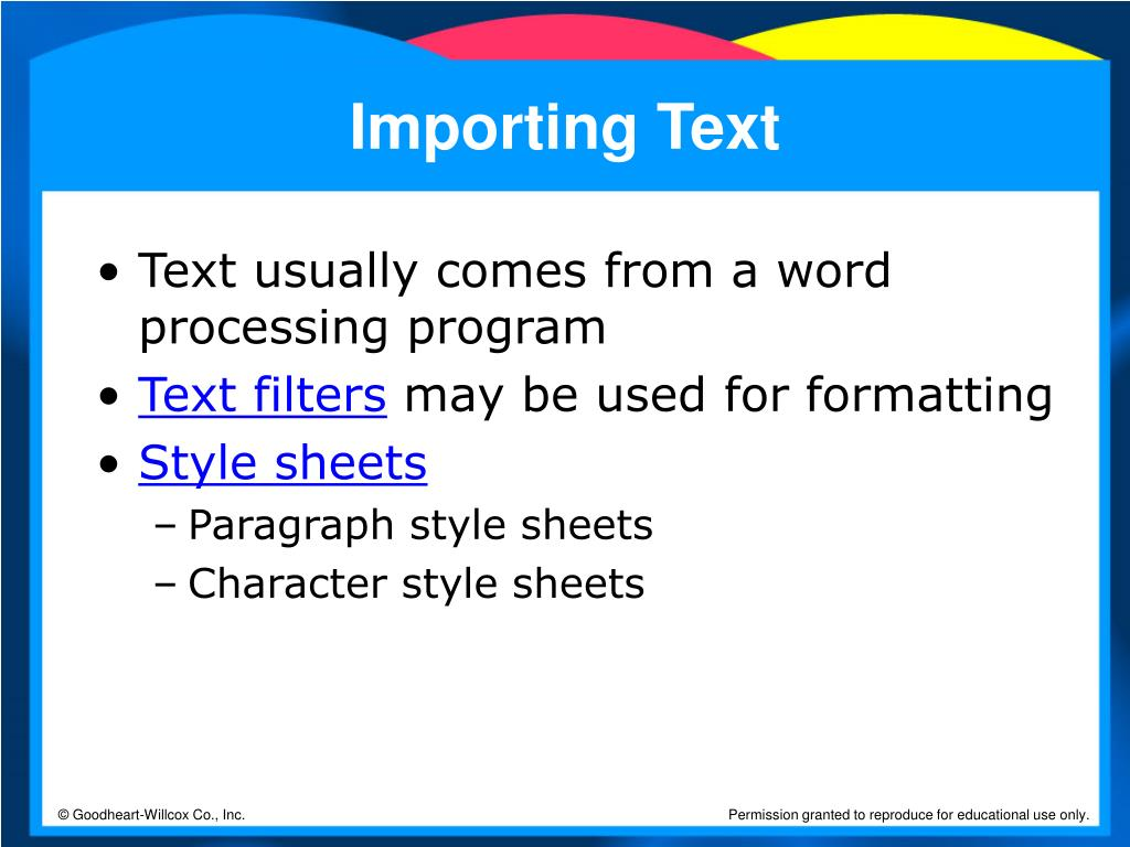 Importing Text