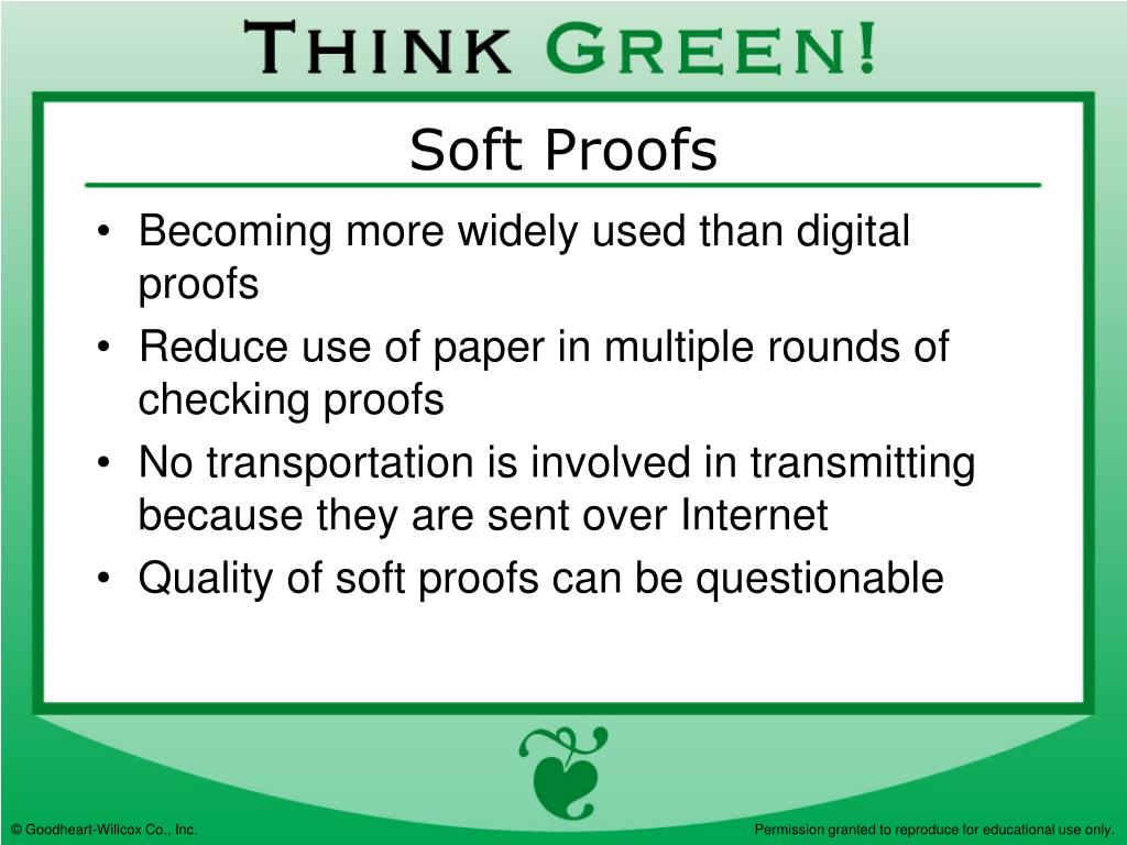 Soft Proofs