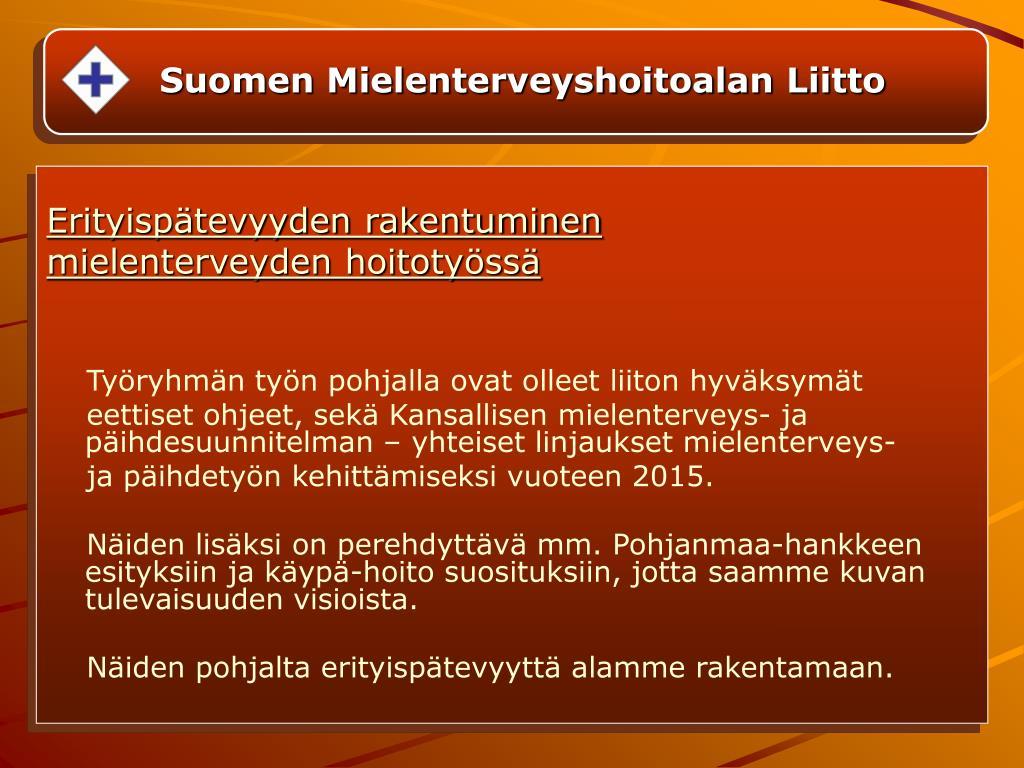 Suomen Mielenterveyshoitoalan Liitto