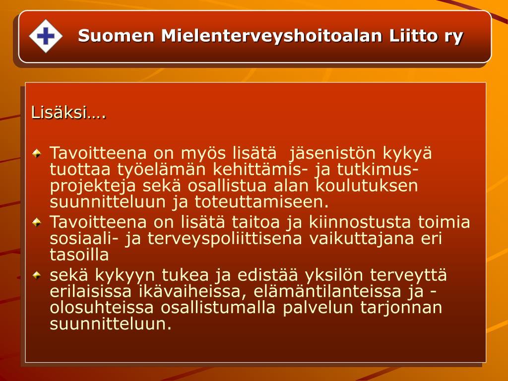 Suomen Mielenterveyshoitoalan Liitto ry