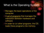 what is the operating system
