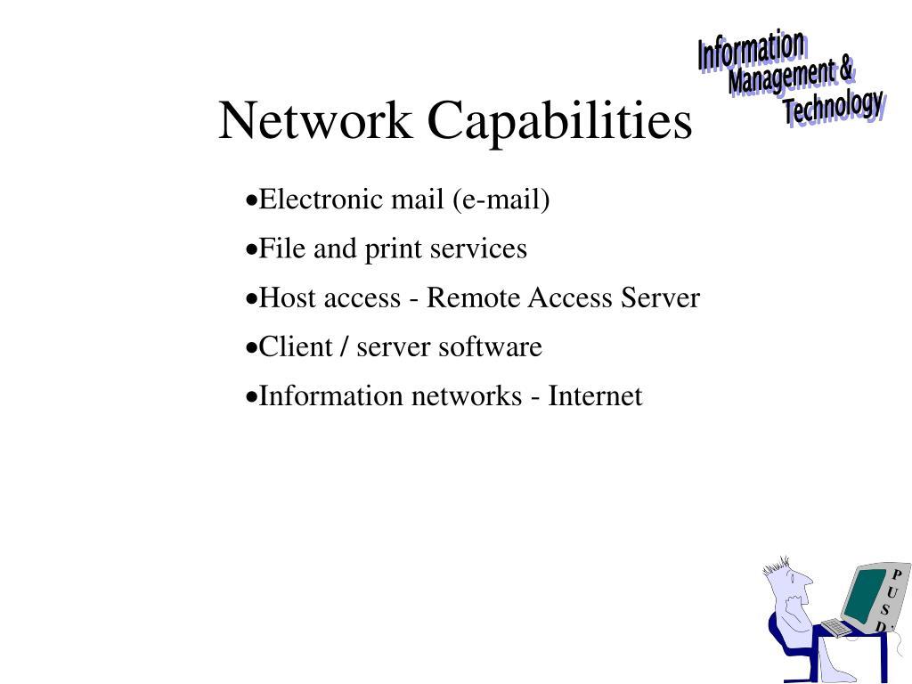 Network Capabilities