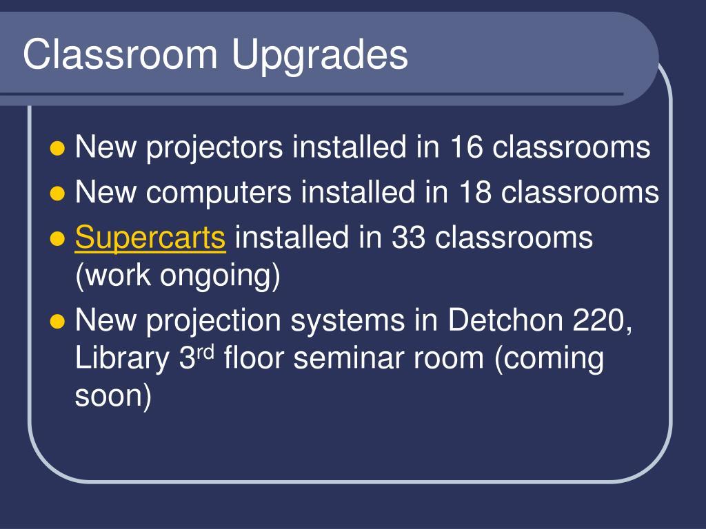 Classroom Upgrades