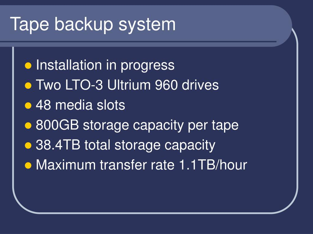 Tape backup system