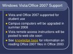 windows vista office 2007 support