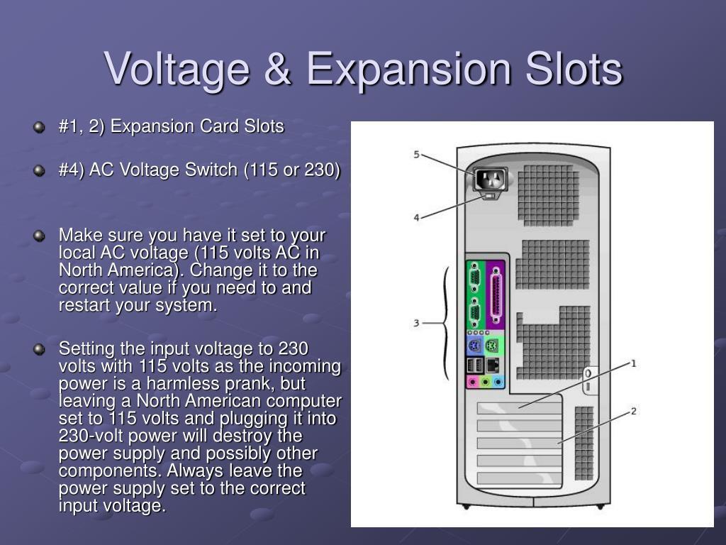 Voltage & Expansion Slots