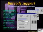 barcode support