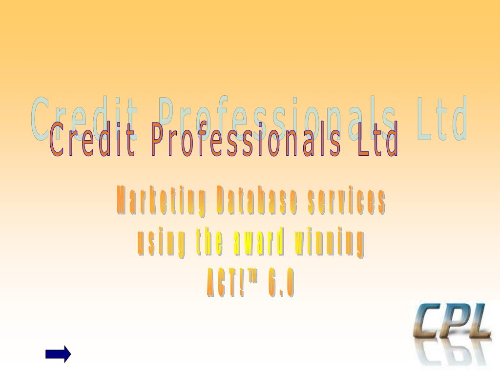 Credit Professionals Ltd