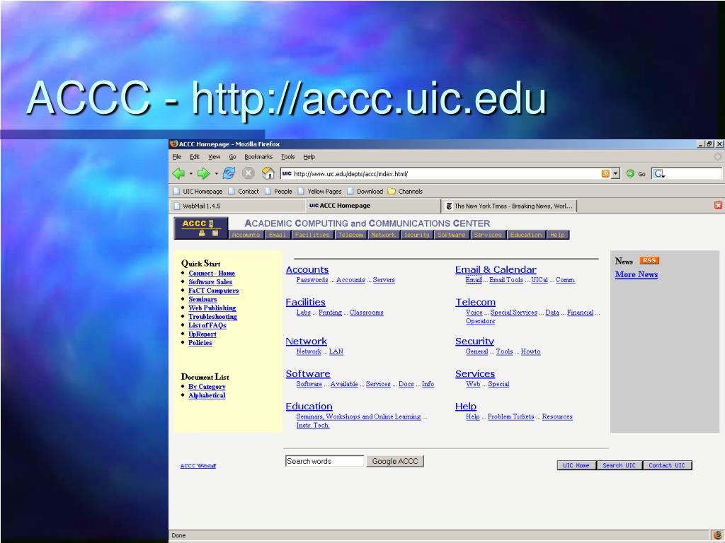 ACCC - http://accc.uic.edu