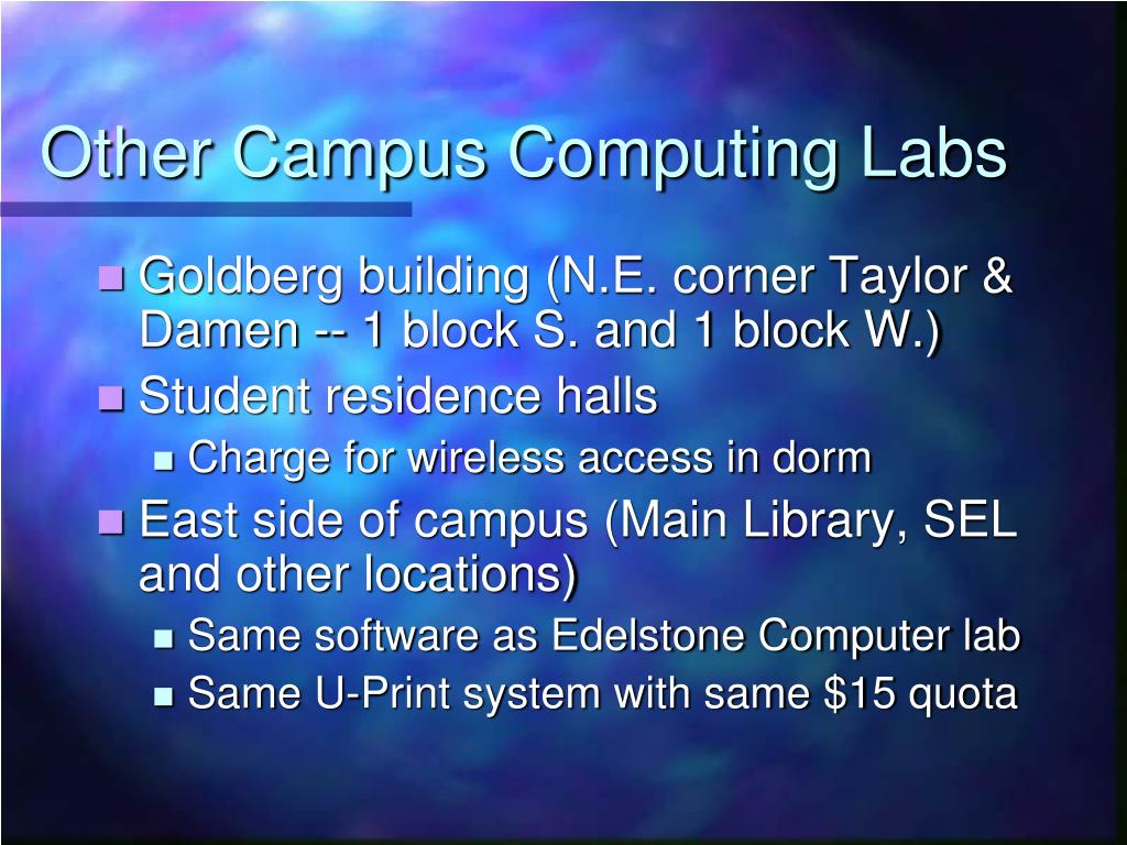 Other Campus Computing Labs