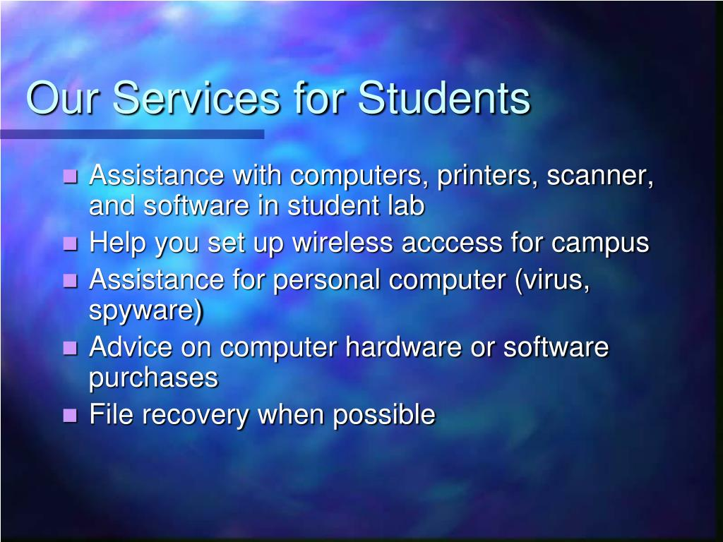 Our Services for Students